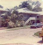Where Clarkes lived in the in 1947 (taken in 1980). Quarters 0957 Amador Road