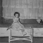 Vange at Grandmas home in 1955