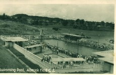 Albrook Air Force base swimming pool 1950s (from Ernest Granstrom)