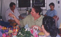 1995 Tita's last birthday party in Panama.  Back porch of her house in Gatun, CZ